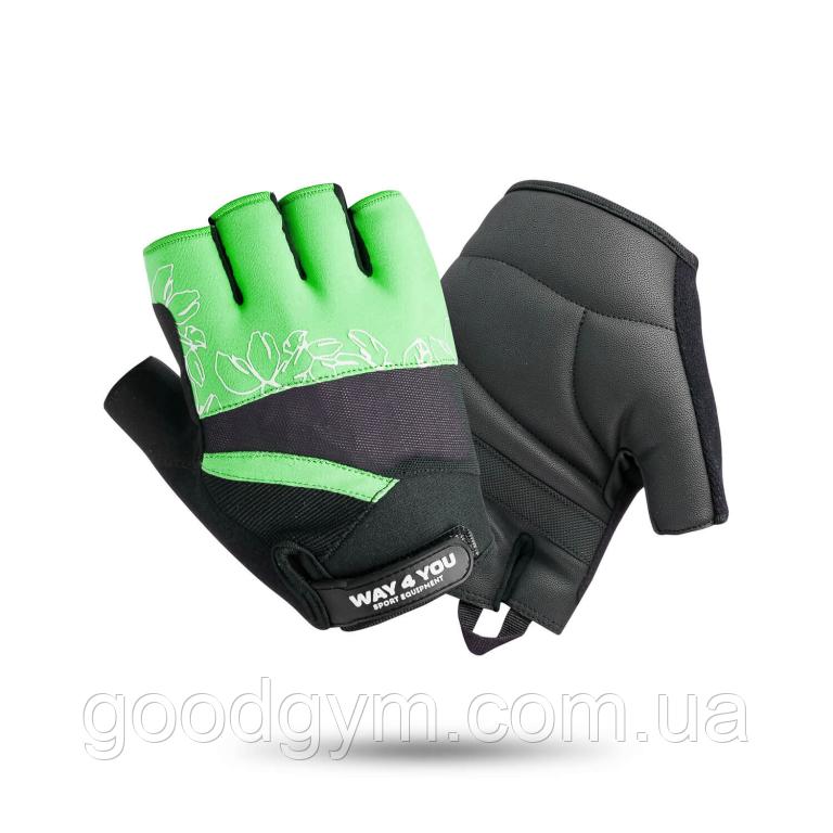 Жіночі рукавички для фітнесу Way4you Green