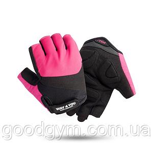 Спортивные фитнес перчатки для зала Way4you Pink