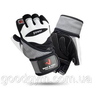 Перчатки для фитнеса и тяжелой атлетики с напульсником Way4you