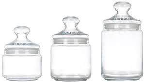 Набір скляних банок з кришкою Luminarc Plano 500мл, 750мл, 1000мл 3шт