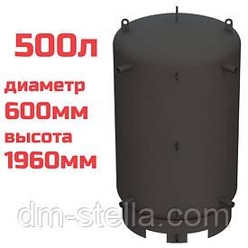 Буферная емкость (теплоаккумулятор) 500 литров, Ø 600 мм, сталь 3 мм