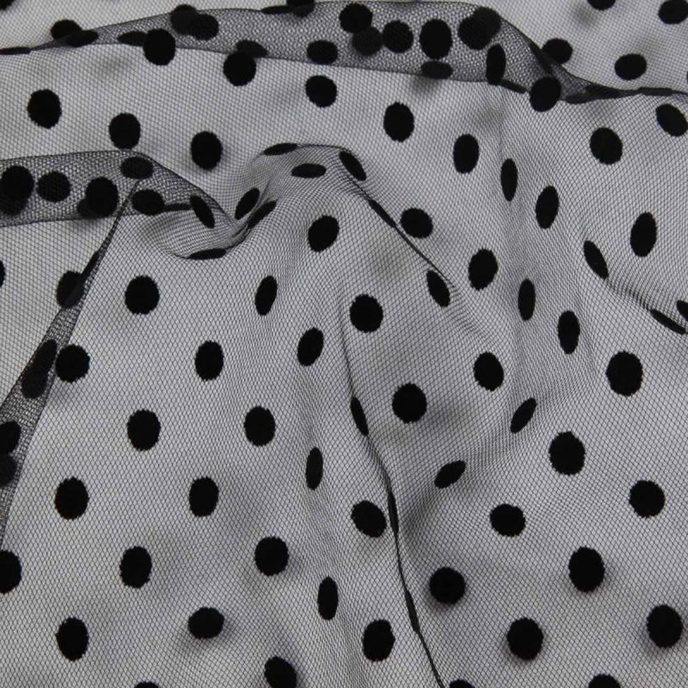 Фатин-флок, горох 6 мм, чорний