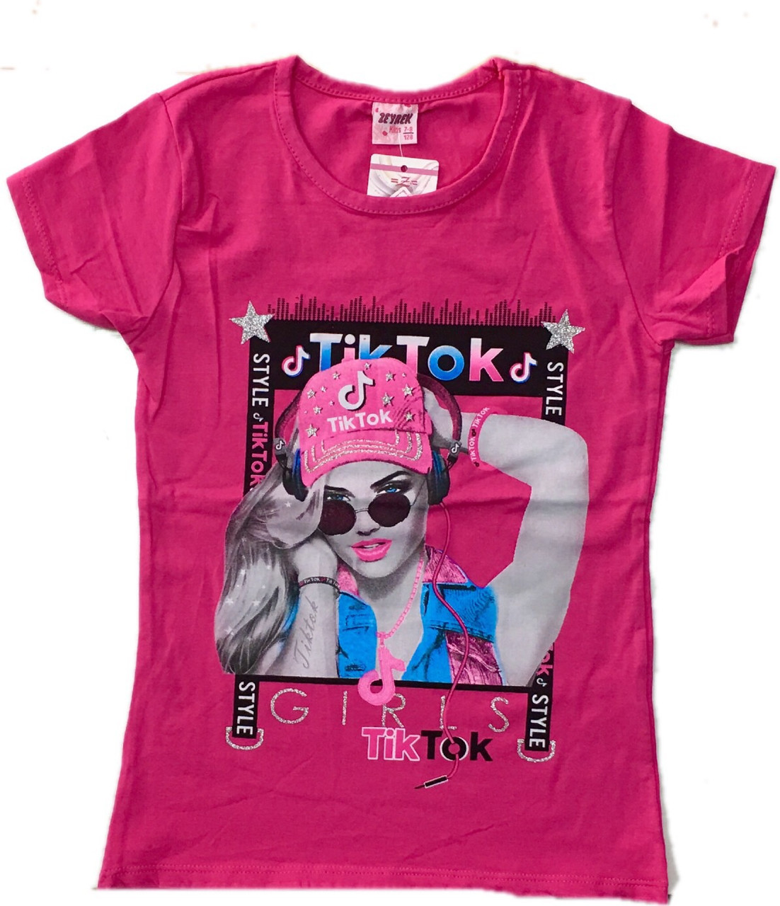 Детская футболка для девочек, 128см