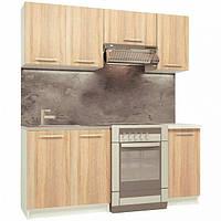 Кухня из пяти модулей (Дуб сонома 1.8 м) (кухонный гарнитур)