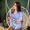 Рубашка женская SANA голубая, фото 3