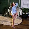 Рубашка женская SANA голубая, фото 5