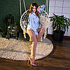 Рубашка женская SANA голубая, фото 9