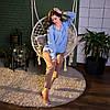 Рубашка женская SANA голубая, фото 4