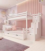 Кровать семейная двухъярусная FeliFam Classic Конструктор FC-513W Белый