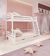 Кровать семейная двухъярусная FeliFam Classic Конструктор FC-514W Белый