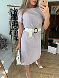 Платье миди женское с разрезами по бокам летнее в горошек, фото 3