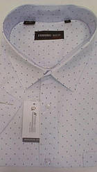 Рубашка мужская ботал короткий рукав Ferrero Gizzi SKY7264BK