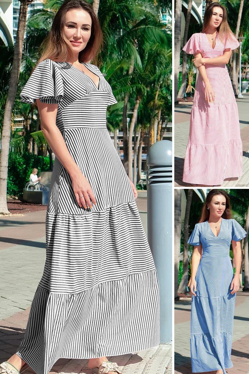 Довге плаття з оборками Гледіс