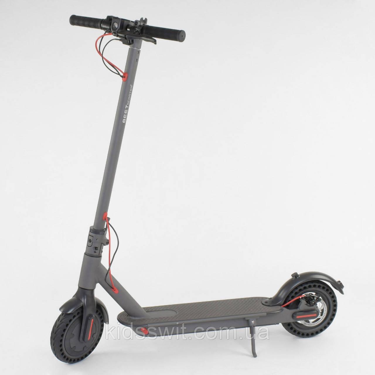 """Електросамокат """"Best Scooter"""", колеса 8,5`, колір сірий SD - 2205"""