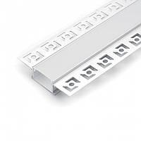Врезной профиль 2 метра для светодиодной ленты Feron CAB254