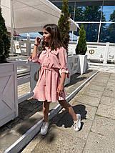 """Расклешенное детское платье """"Алена"""" на пуговицах (3 цвета), фото 2"""