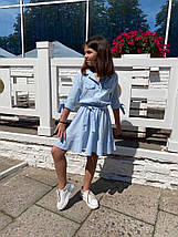 """Расклешенное детское платье """"Алена"""" на пуговицах (3 цвета), фото 3"""