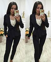 Летний брючный костюм черного цвета/ черный С1606, фото 1