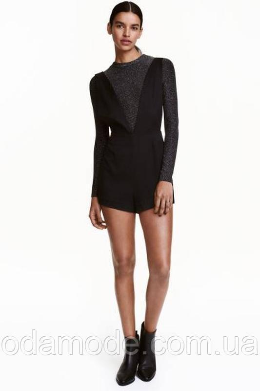 Комбинезон женский с шортами H&M черный