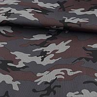 ПВХ тканина оксфорд 600D камуфляж сіро-чорний ш.150 (22102.001)