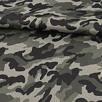 ПВХ тканина оксфорд 600D камуфляж оливково-чорний ш.150 (22102.002)