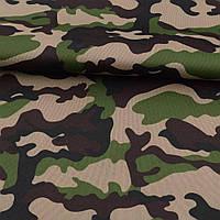 ПВХ тканина оксфорд 600D камуфляж зелено-коричневий ш.150 (22102.003)
