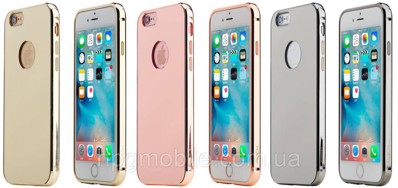 Чехол для iPhone 6, iPhone 6S - Rock Infinite Series (Mirror), алюминиевый