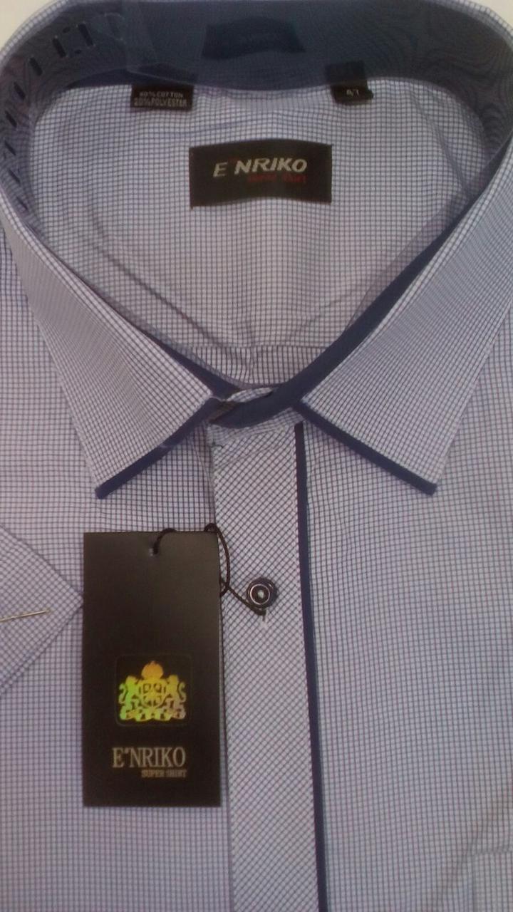 Мужская рубашка  ENRIKO ботал с коротким рукавом модель SDK7431BK