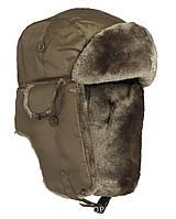 Шапка-ушанка, искусственный мех MilTec MA1 Olive 12105001
