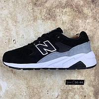Кроссовки мужские New Balance 580 Winter Grey/Black С МЕХОМ (в стиле нью бэлэнс)