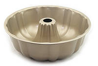 Форма для выпечки кекса Benson BN-1055 серая | форма для выпекания Бенсон | металлическая формочка Бэнсон
