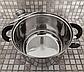 Набор посуды German Family 12 предметов нержавеющая сталь силиконовые ручки (кастрюли, сотейник, сковорода), фото 3