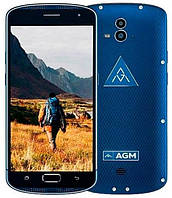 "AGM X1 5.5"" 4GB RAM 64GB ROM 13MP 5400мАч IP68 4G Android 5.1 Blue"
