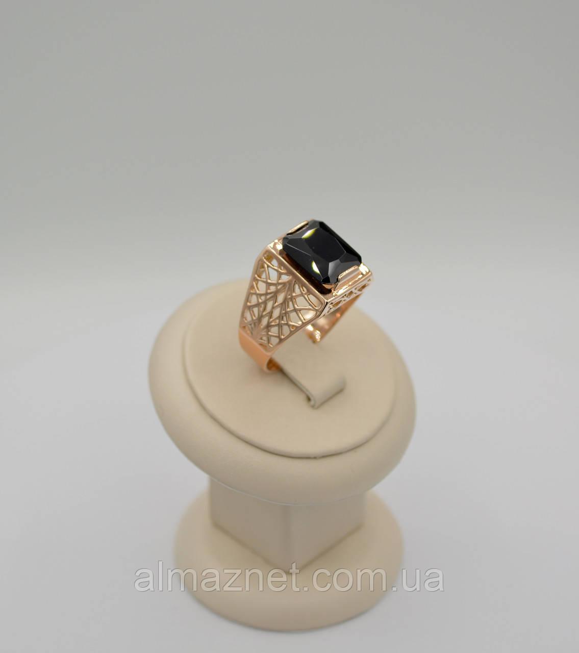 Золотой перстень Персидская роскошь с одним камнем