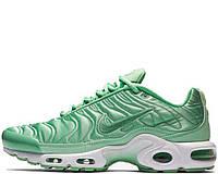 Кроссовки женские Nike Air Max TN Plus Satin Green (в стиле найк аир макс) зеленый, фото 1