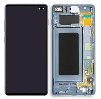 Дисплей для Samsung G975 Galaxy S10 plus модуль в сборе с тачскрином, зеленый, с рамкой, Original (PRC)