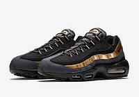 Кроссовки мужские Nike Air Max 95 Black/Gold (в стиле найк аир макс 95), фото 1