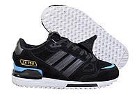 Кроссовки женские Adidas ZX 750 (в стиле адидас) черные, фото 1