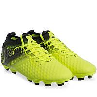 Бутси копи футбольні дорослі чоловічі з носком DIFENO Жовтий-чорний (170706-4) 45