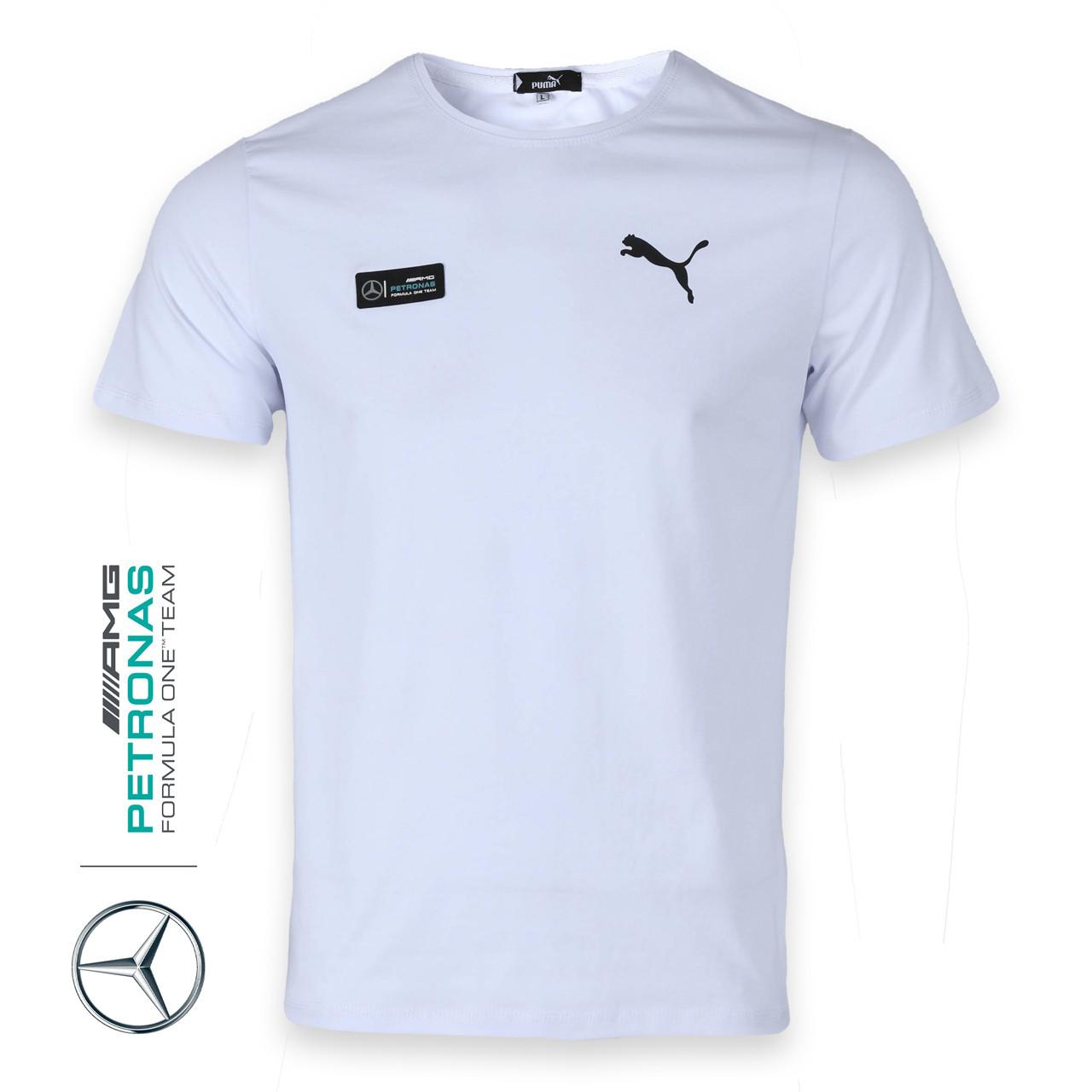 Футболка спортивная белый PUMA - Mercedes Ф-10 WHT XXL(Р) 20-916-020