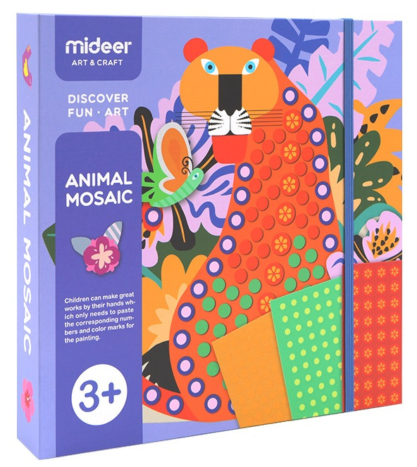 Мозаика-аппликация Животные Mideer (MD4053)