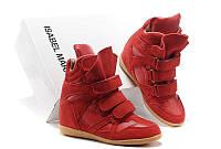 Кроссовки женские Isabel Marant (в стиле сникерсы) красные