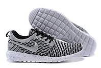 Кроссовки мужские беговые Nike Roshe Run Flyknit London Grey (в стиле найк роше ран) серые, фото 1