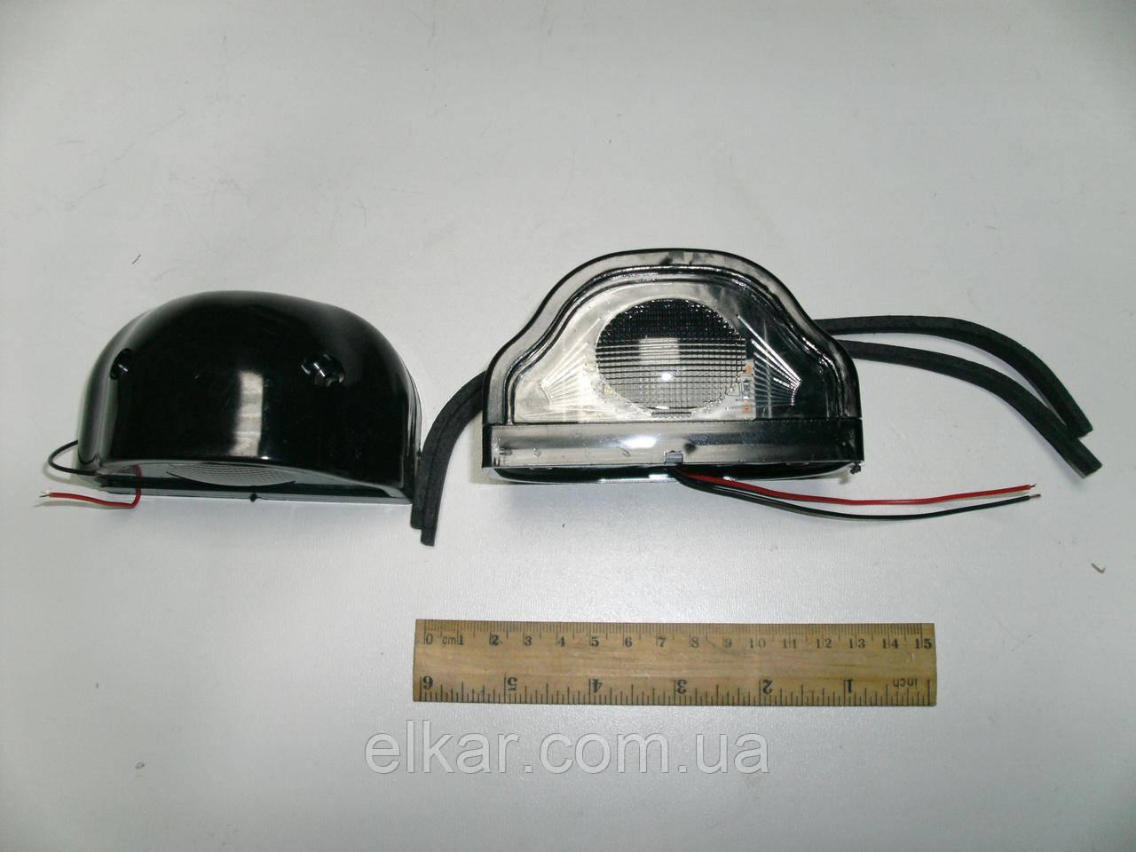 Ліхтар освітлення номеру діодний, чорна 24В LR0064DB