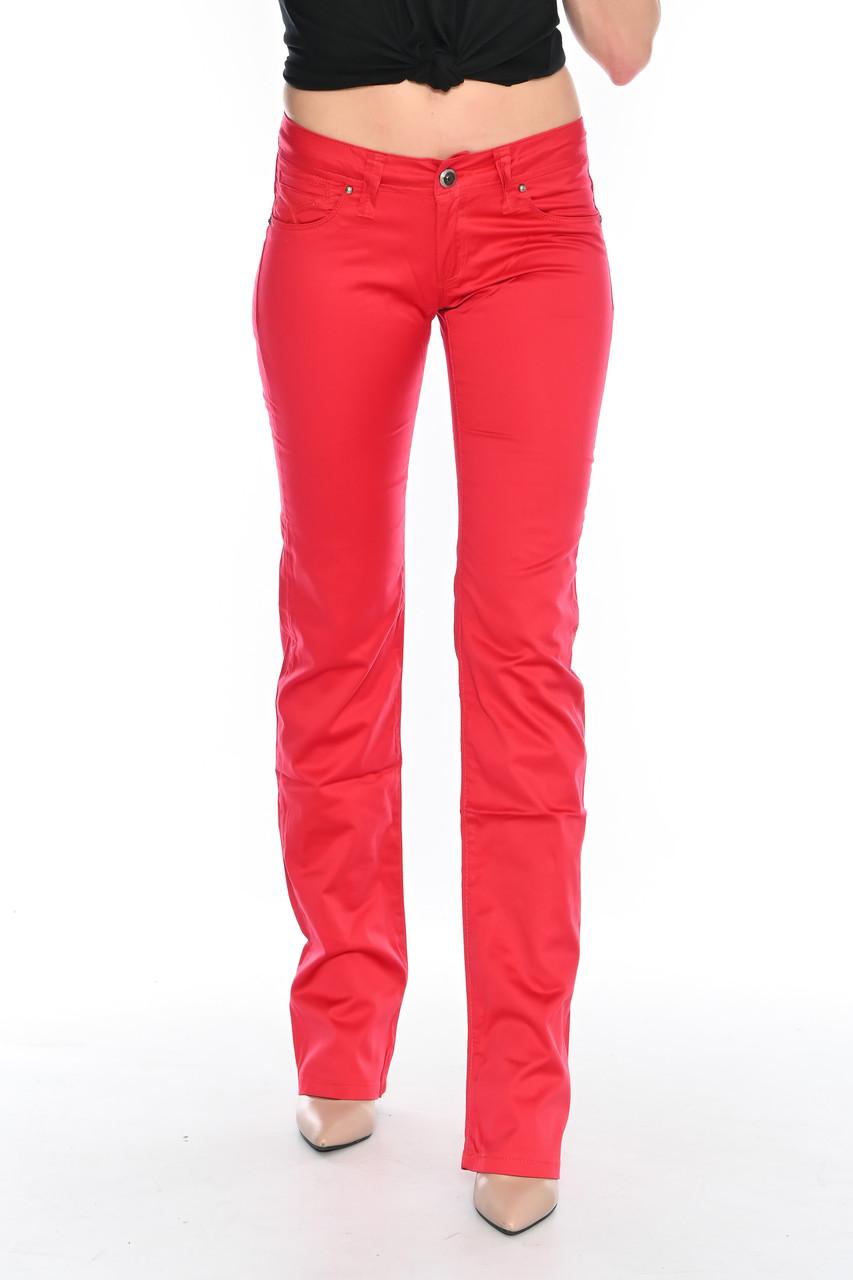 Джинсы женские OMAT jeans 9602 красные