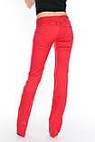 Джинсы женские OMAT jeans 9602 красные, фото 8