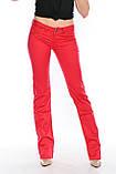 Джинсы женские OMAT jeans 9602 красные, фото 3