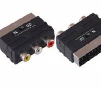Адаптер SCART RCA S-Video (двусторонний) переходник