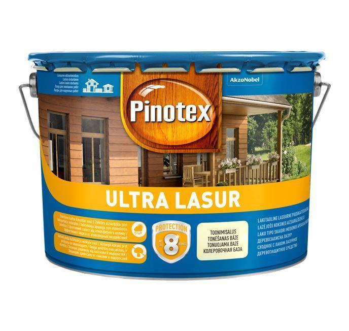 Pinotex Ultra 10 л  Пинотекс ультра ореховое дерево