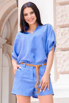 Короткие женские шорты Ридика голубые